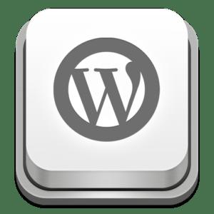 WP Logo als 3D Button bewirbt WordPress Entwicklung fuer Agenturen