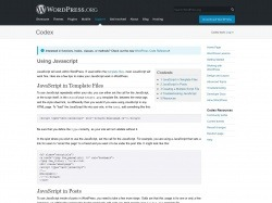 https://codex.wordpress.org/Using_Javascript