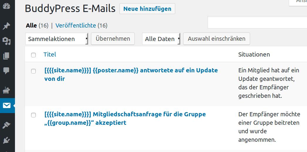 Die verdammt intelligenten E-Mail-Vorlagen von BuddyPress - ein ...